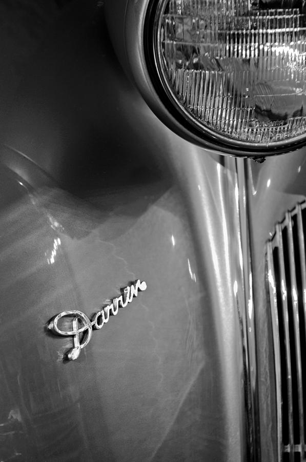 1940 Packard Super Eight One-eighty Darrin Convertible Sedan Headlight Emblem Photograph