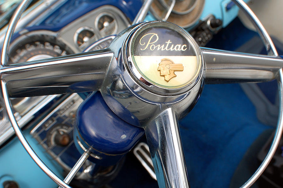 1949 Pontiac Chief Silver Streak Steering Wheel 2 Photograph