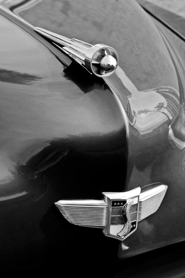 1949 Studebaker Champion Hood Ornament Photograph  - 1949 Studebaker Champion Hood Ornament Fine Art Print