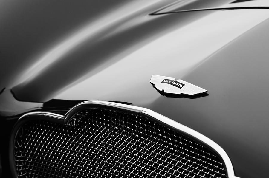 1953 Aston Martin Db2-4 Bertone Roadster Hood Emblem Photograph