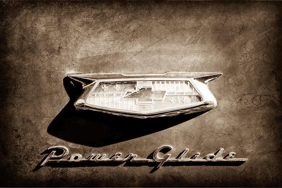 1954 Chevrolet Power Glide Emblem Photograph
