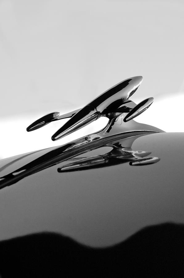 1954 Gmc 100 Pickup Hood Ornament Photograph  - 1954 Gmc 100 Pickup Hood Ornament Fine Art Print