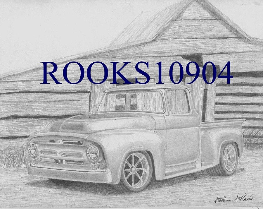 1956 Ford Pickup Truck Art Print Drawing