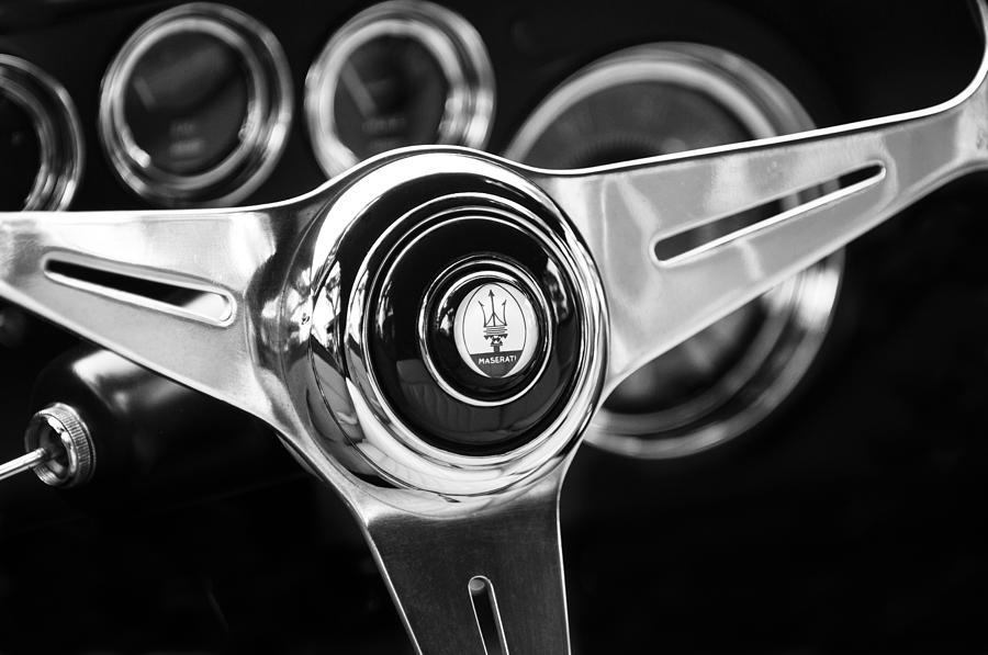1958 Maserati Steering Wheel Emblem Photograph