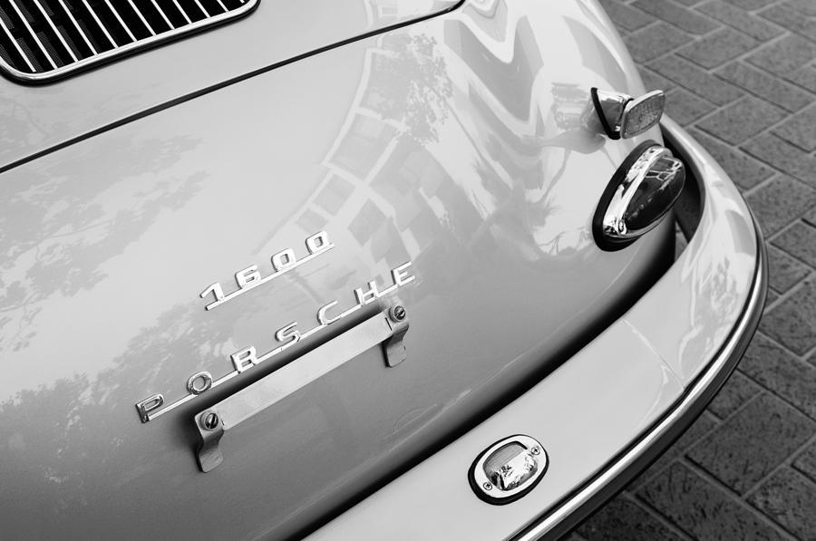 1960 Porsche 356 B 1600 Super Roadster Rear Emblem - Taillight Photograph