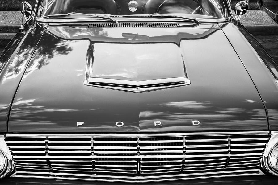 1963 Ford Falcon Sprint Convertible Bw  Photograph