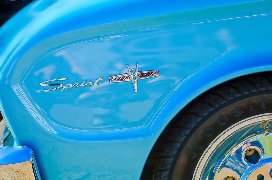 1963 Ford Falcon Sprint Side Emblem Photograph