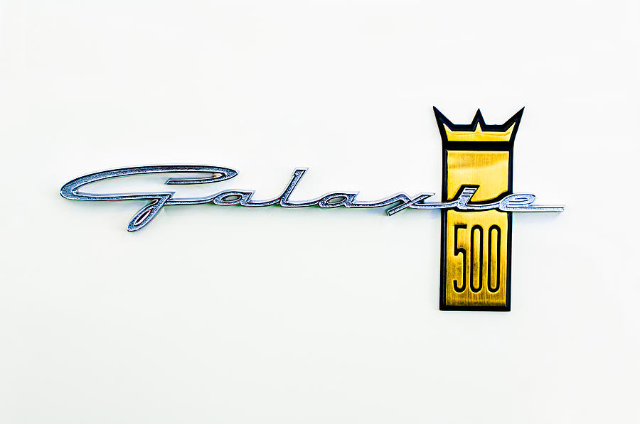 1963 Ford Galaxie 500 R-code Factory Lightweight Emblem Photograph