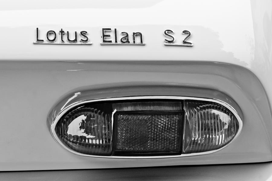 1965 Lotus Elan S2 Taillight Emblem Photograph