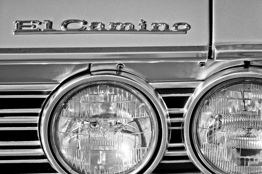 1967 Chevrolet El Camino Pickup Truck Headlight Emblem Photograph - 1967 Chevrolet El Camino Pickup Truck Headlight Emblem by Jill Reger