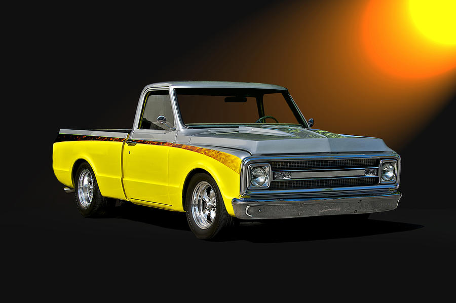Auto Photograph - 1969 Chevrolet C10 Pick Up by Dave Koontz