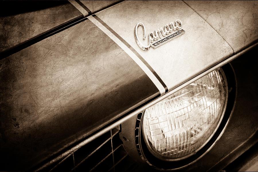 1969 Chevrolet Camaro Z-28 Emblem. 1969 Chevy Camaro Emblem Photograph - 1969 Chevrolet Camaro Z-28 Emblem by Jill Reger