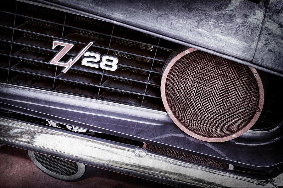 1969 Chevrolet Camaro Z28 Grille Emblem Photograph
