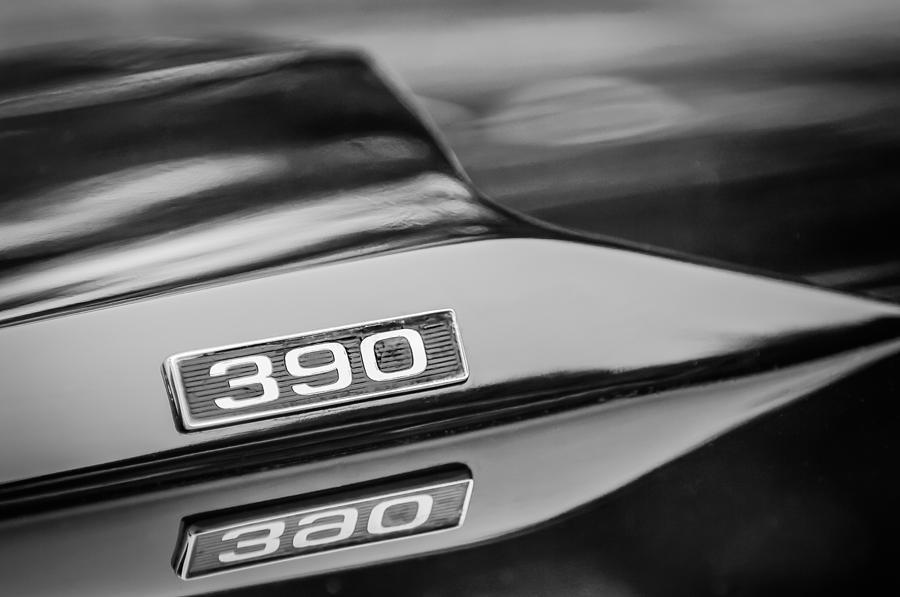 1969 Ford Mustang Mach 1 390 Hood Emblem Photograph