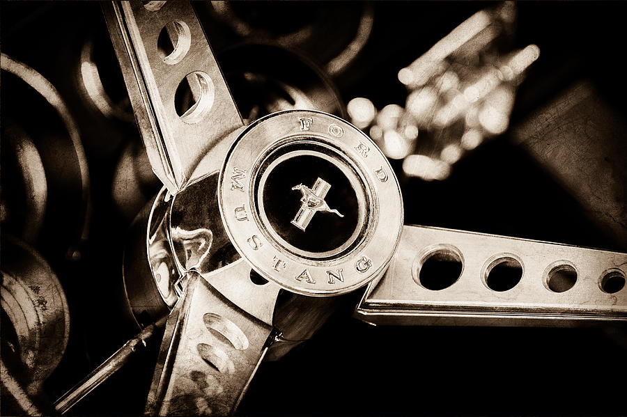 1969 Ford Mustang Mach 1 Steering Wheel Photograph