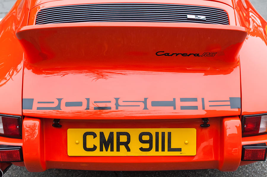 1973 Porsche 911 Carrera Rs Lightweight Rear Emblem Photograph