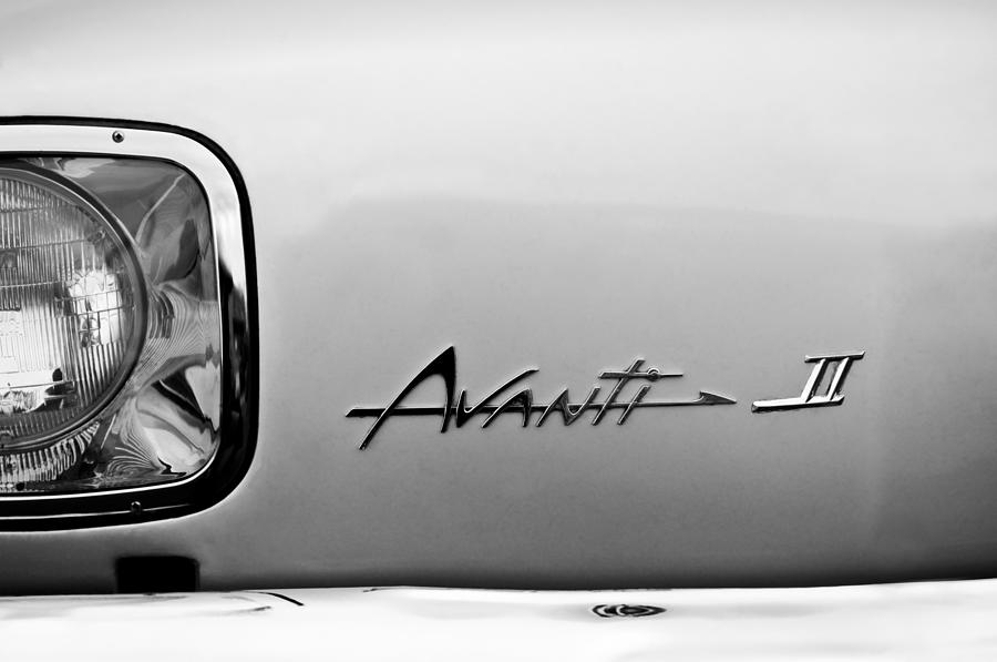 1978 Avanti II Headlight Emblem Photograph  - 1978 Avanti II Headlight Emblem Fine Art Print