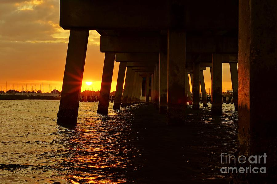 2013 First Sunset Under North Bridge Photograph  - 2013 First Sunset Under North Bridge Fine Art Print