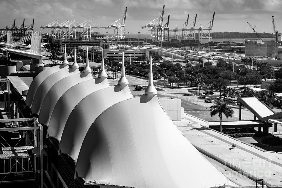 Port Of Miami Cruise Ship Terminal Miami Florida Photograph