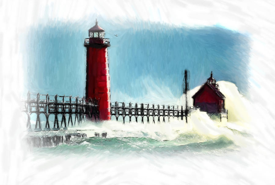 A Day At The Coast Painting  - A Day At The Coast Fine Art Print