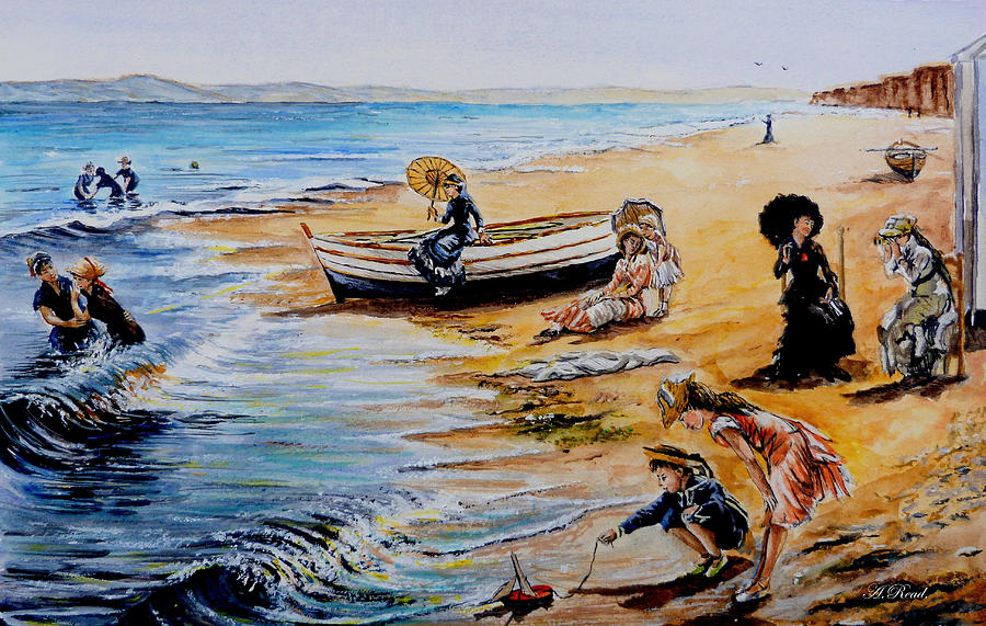 A Day At The Seaside Painting  - A Day At The Seaside Fine Art Print