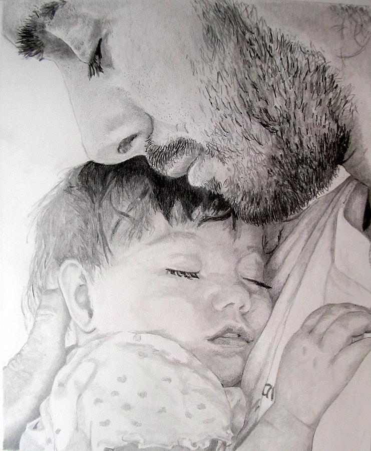 A Father's Love Drawing by Martin Lagewaard