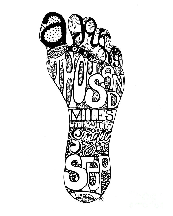 A Thousand Miles Drawing  - A Thousand Miles Fine Art Print