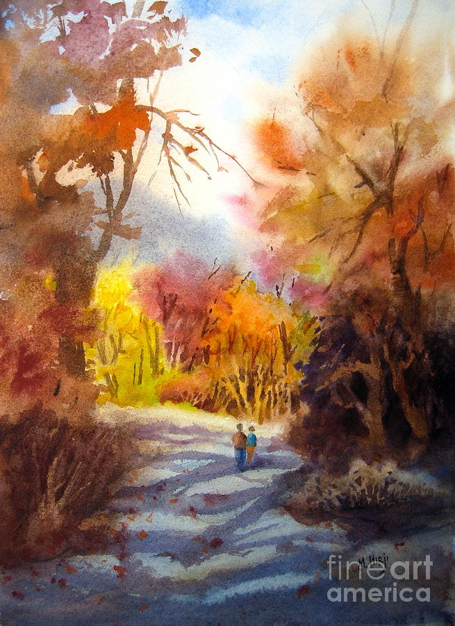 A Walk In The Fall Painting  - A Walk In The Fall Fine Art Print