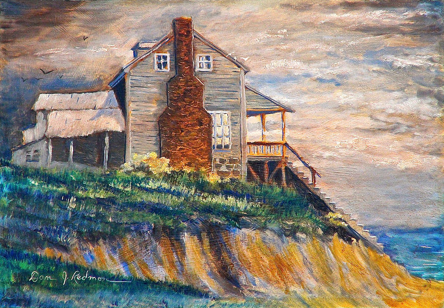 Beach Painting - Abandoned Beach House by Dan Redmon
