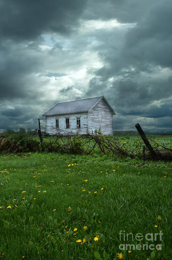 Abandoned Building In A Storm Photograph