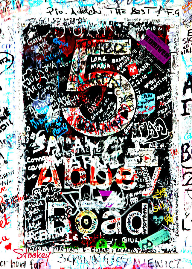Abbey Road Graffiti Photograph