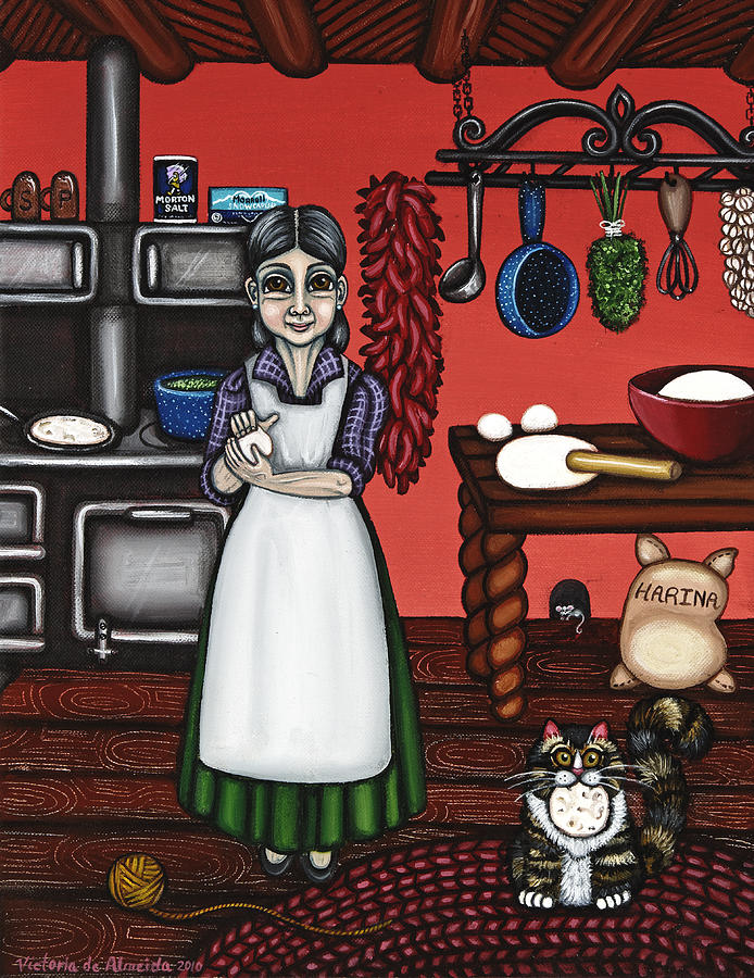 Abuelita Or Grandma Painting  - Abuelita Or Grandma Fine Art Print