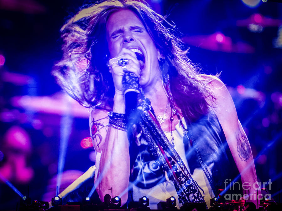 Aerosmith Steven Tyler Singing In Concert Photograph  - Aerosmith Steven Tyler Singing In Concert Fine Art Print