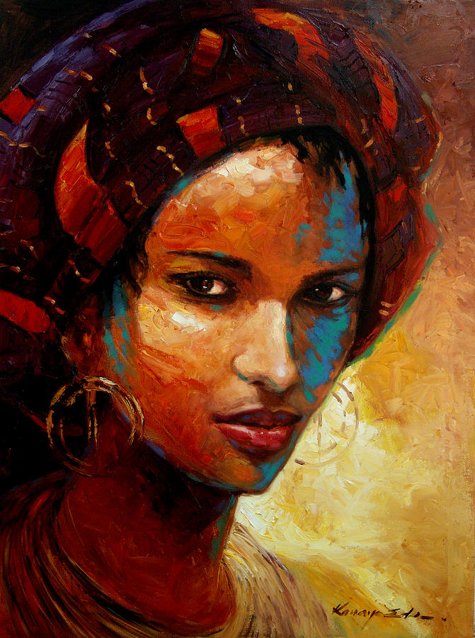 Aisha Painting By Kanayo Ede