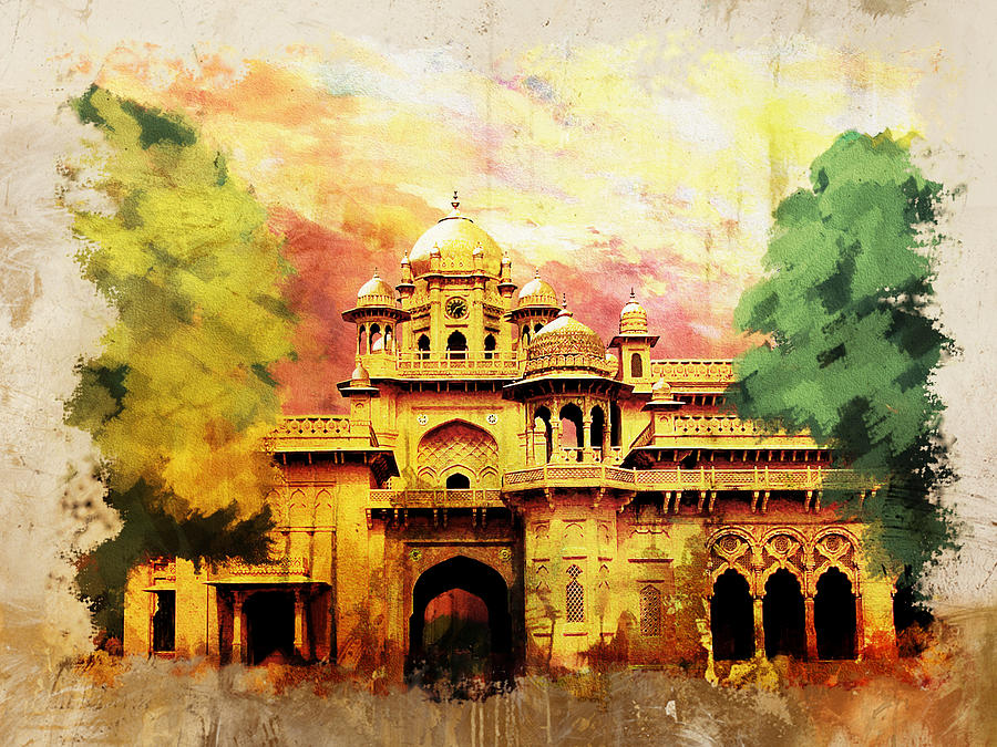 Aitchison College Painting  - Aitchison College Fine Art Print