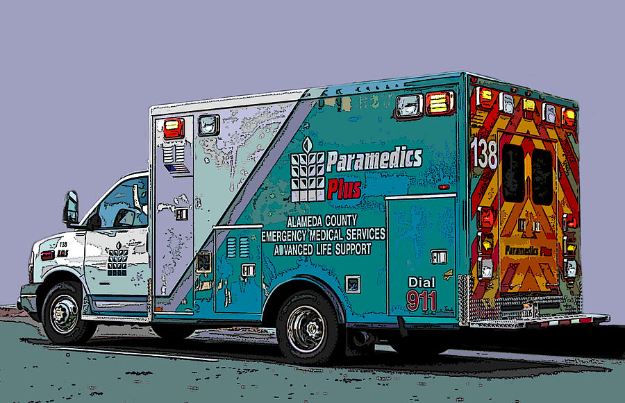 Alameda County Medical Support Vehicle Photograph  - Alameda County Medical Support Vehicle Fine Art Print