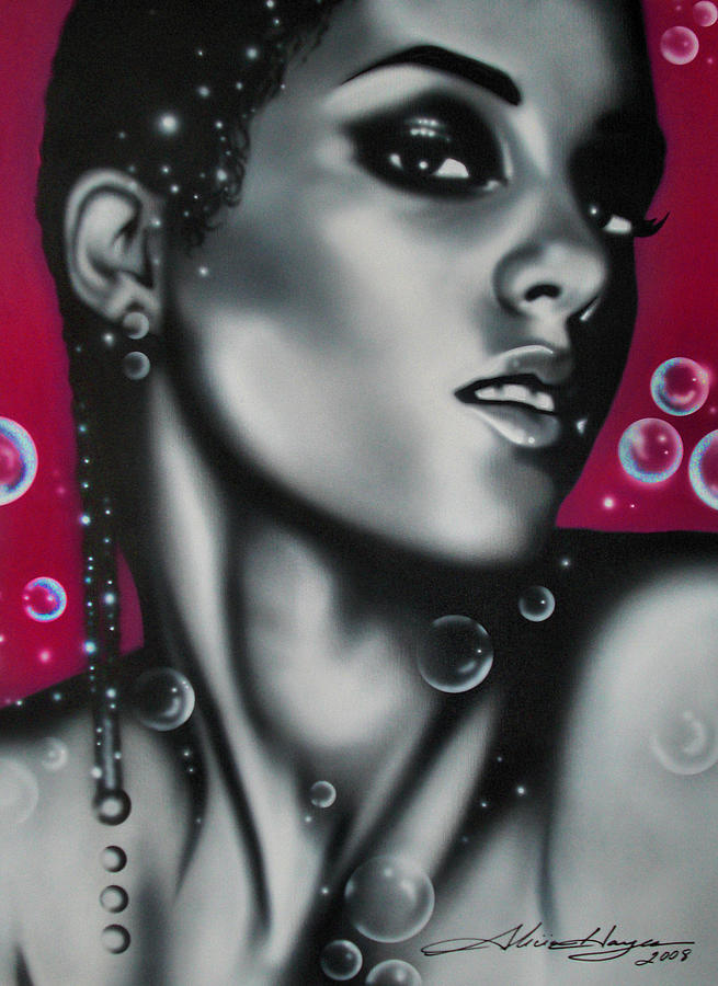 Alicia Keys Painting  - Alicia Keys Fine Art Print