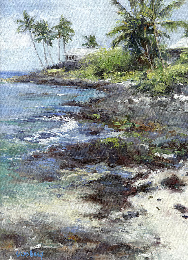 Maui Painting - Alii Drive Homes by Stacy Vosberg