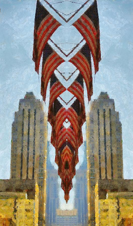 American Architecture Painting - American Architecture by Dan Sproul