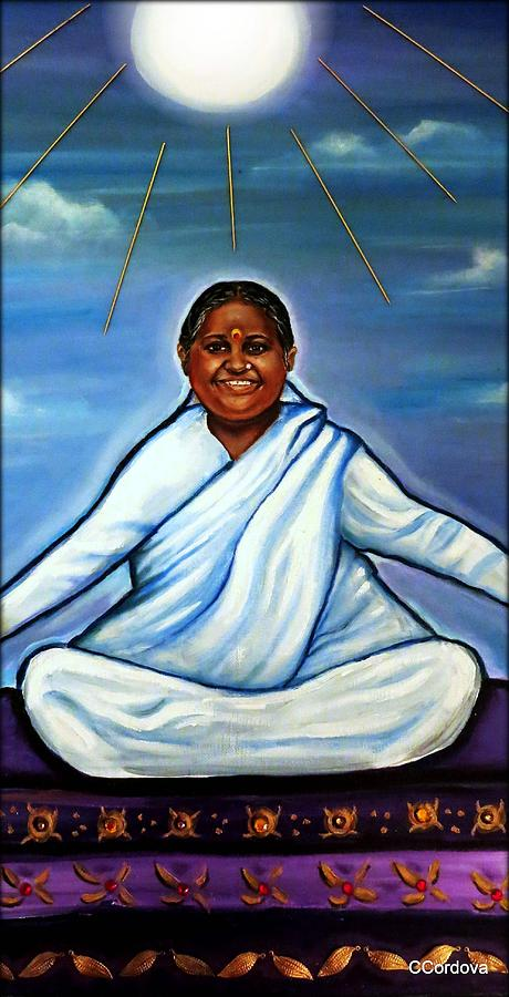 Amma -the Hugging Saint Painting  - Amma -the Hugging Saint Fine Art Print