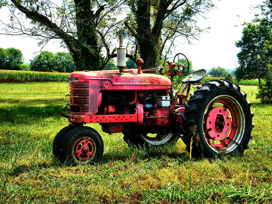 Antique Tractor  Photograph