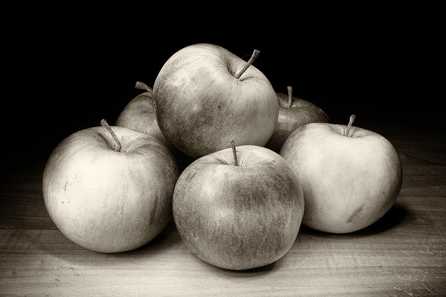 Apples Bw Photograph