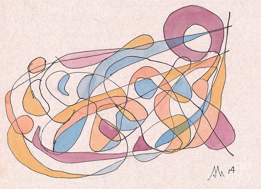 Abstraction Painting - Arabesque. by Alain Nantel