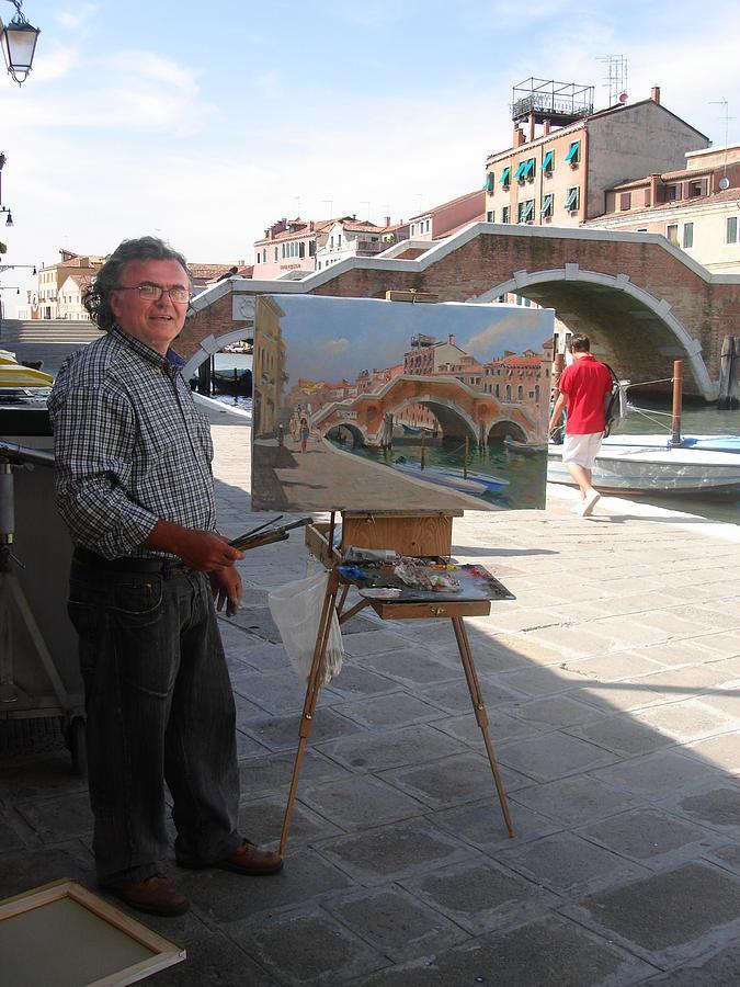 Artist At Work Venice Photograph