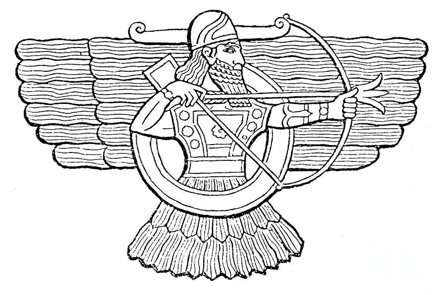 Ashur Assyrian God Photograph By Photo Researchers