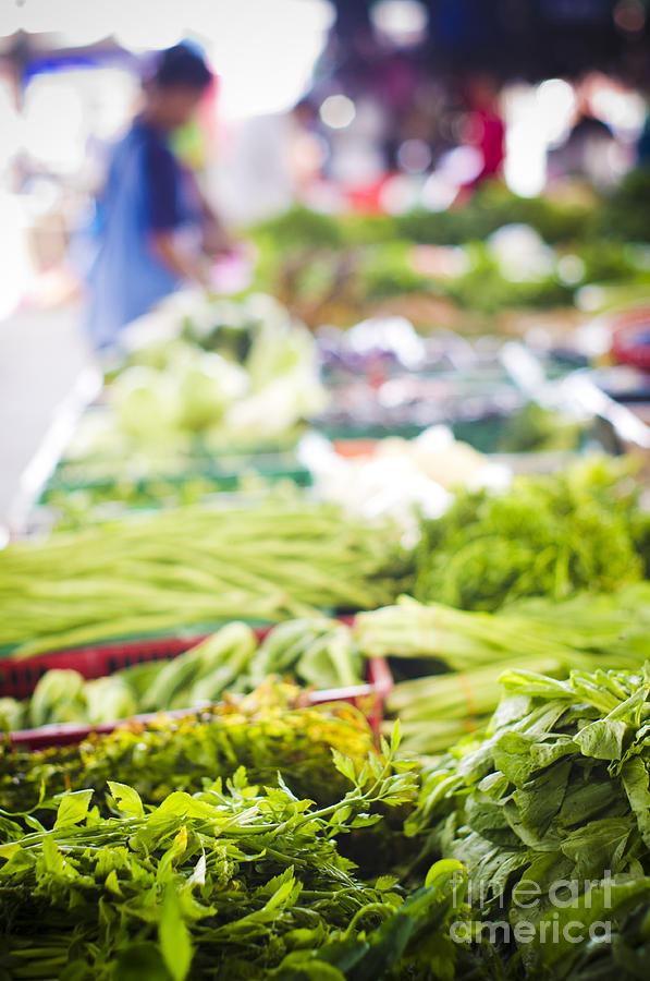 Asian Market Vegetable Photograph
