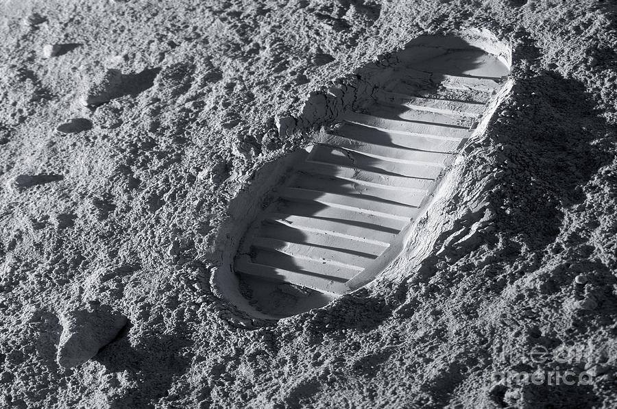 Astronaut Footprint On The Moon Photograph By Detlev Van