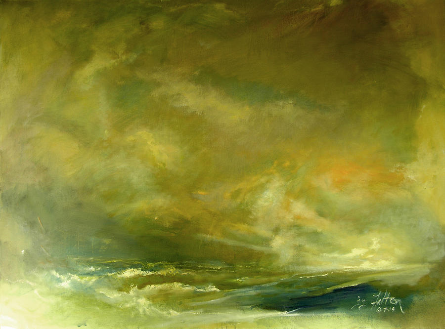 Atmospheric Seascape  Painting  - Atmospheric Seascape  Fine Art Print