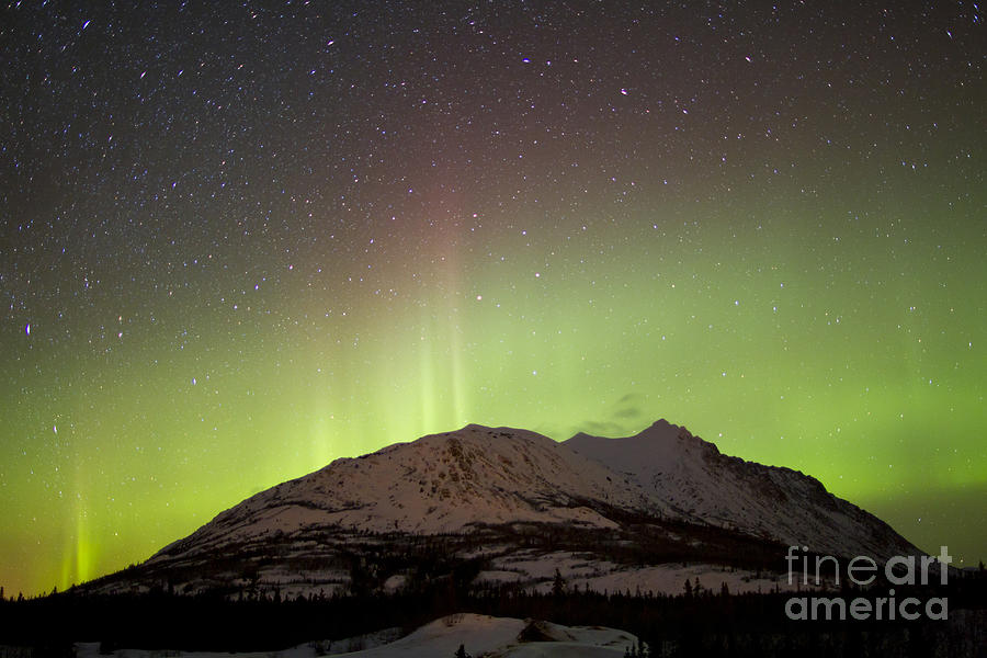 Aurora Borealis And Milky Way Photograph  - Aurora Borealis And Milky Way Fine Art Print