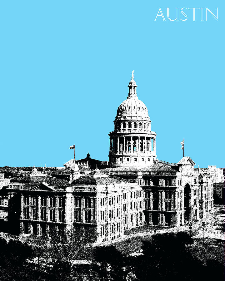 Austin Texas Capital Digital Art  - Austin Texas Capital Fine Art Print